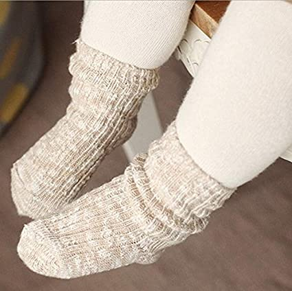 Baby Boy Girl Socks Infant Toddler Cotton Floor Non-Skid Turn Cuff Thick Stockings