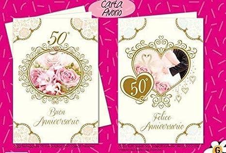 Subito Disponibile Biglietto Auguri Anniversario Nozze D Oro 50 Anni Matrimonio 1 A Scelta