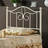 Westfield Metal Headboard in Off White Finish