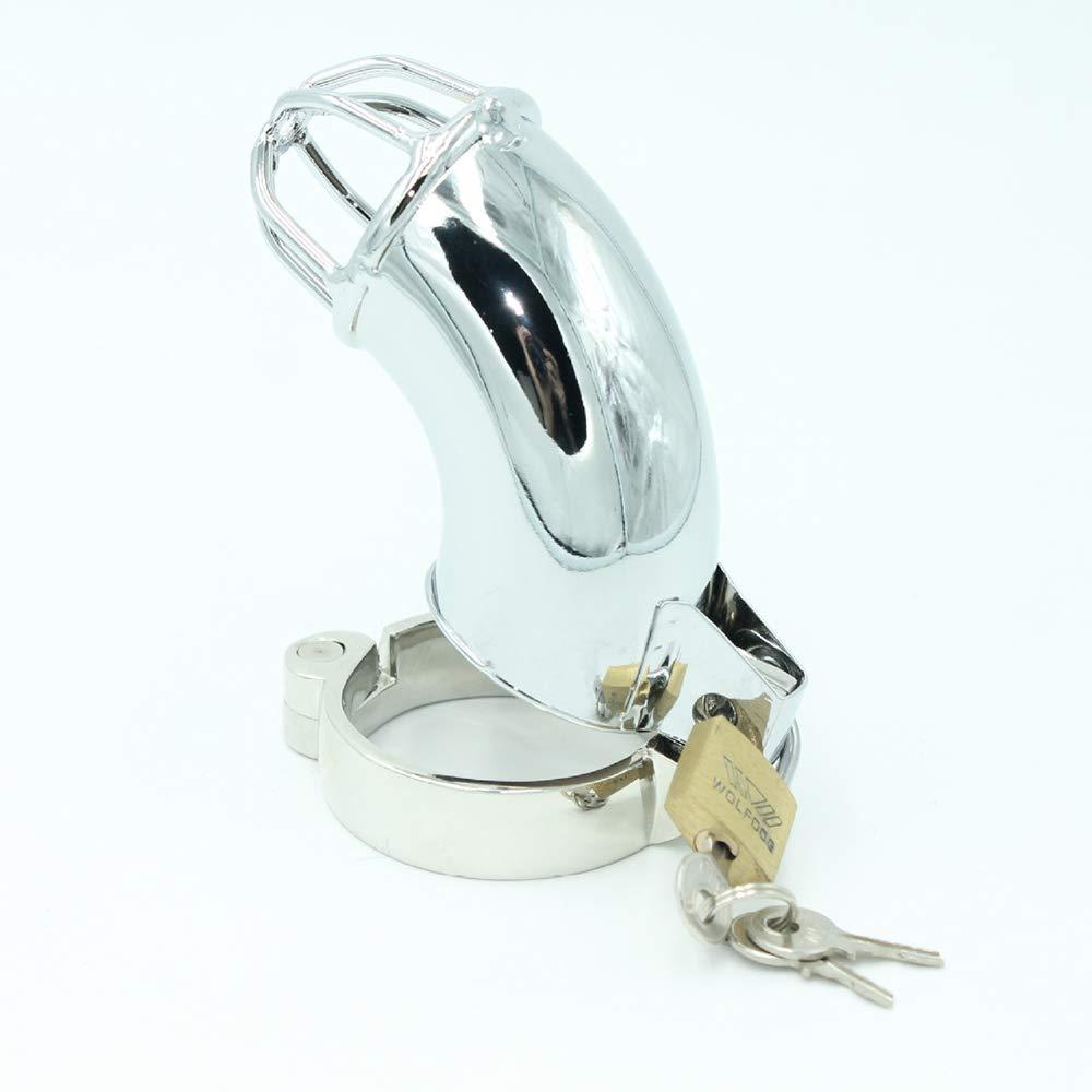 Fei Fei Dispositivo de castidad de la la castidad de la la aleación del cinc de Anti-Shedding de la Jaula de la Armadura del pene del Juguete del Adulto Masculino (40mm / 45mm / 50mm) (Tamaño : 50mm) 1ceba4