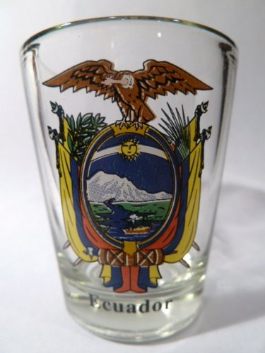 Ecuador Coat Of Arms Shot Glass - Ecuador Coat