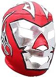 Deportes Martinez Dr. Wagner Lycra Lucha Libre Luchador Wrestling Masks Adult Size Red Silver