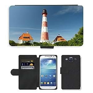 PU LEATHER case coque housse smartphone Flip bag Cover protection // M00169670 Faro de Westerhever Mar del Norte // Samsung Galaxy S3 S III SIII i9300
