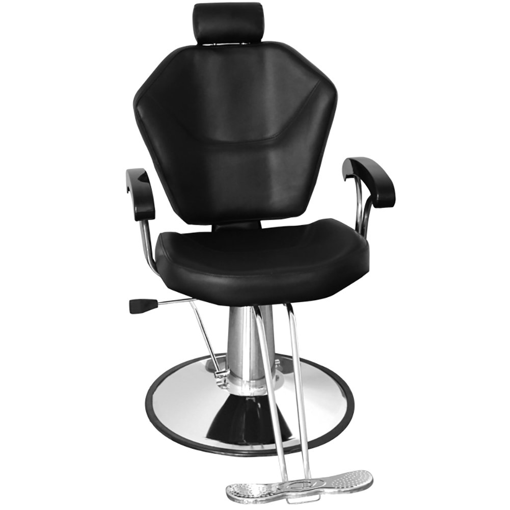 Swivel Barber Chair, WarmieHomy Reclining Hydraulic Hairdressing Chair Salon Tattoo Styling Chair Free Footrest(100 * 60 * 100cm)