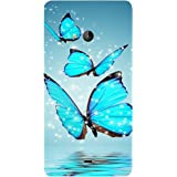 Casotec Flying Butterflies Design Hard Back Case Cover for Microsoft Lumia 540