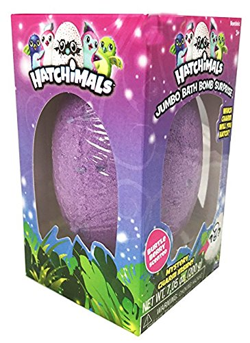 Price comparison product image Hatchimals Jumbo Bath Bomb Surprise ~ 7.05 oz ~ Mystery Charm Inside (Burtle Berry)