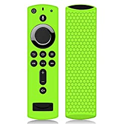 Remote Case/Cover for Fire TV Stick 4K, Protective Silicone Holder Lightweight [Anti Slip] ShockProof for Fire TV Cube…