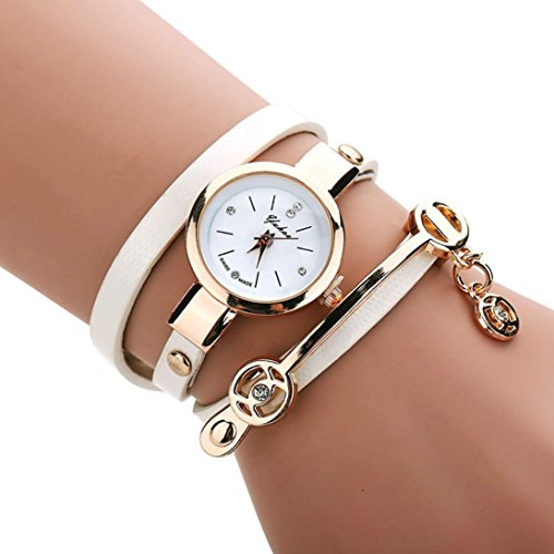 Han Shi Wrist Watch, Women Fashion Metal Strap Watch Band Diamante Bracelet Hand Chian (M, - Women Luxury Brands