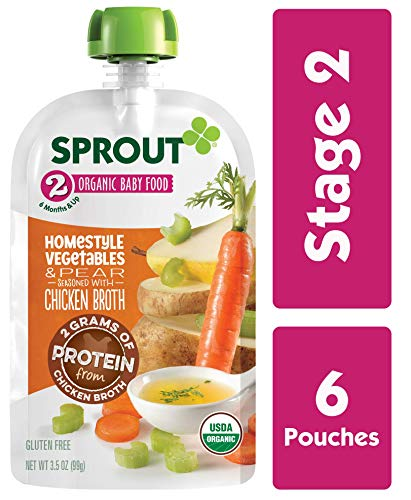 Sprout Organic Stage 2 Baby Food Homestyle