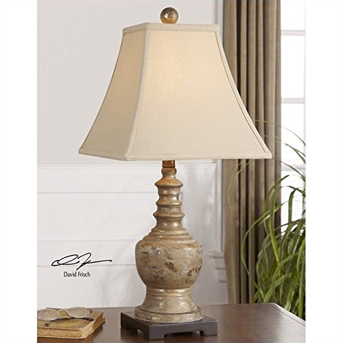 Uttermost 29299 Valtellina Lamp (Linen Table Square Lamp Uttermost)
