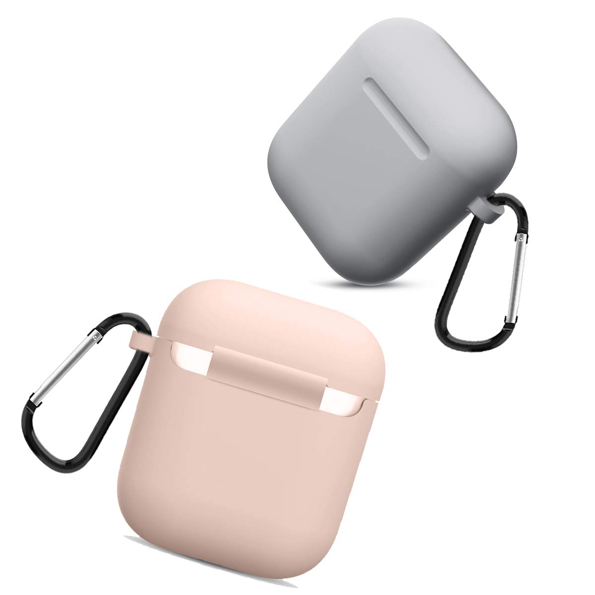 Compatible AirPods Case Cover Silicone Protective Skin for Apple Airpod Case 2/&1 2 Pack Black//Watermelon Red