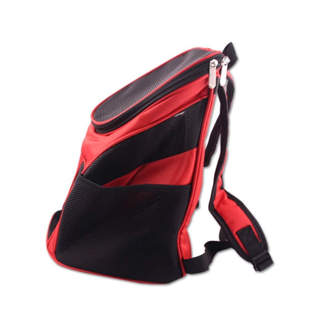 Red 3330Pet Dog Cat Carrier Travel Comfortable Portable Outdoor Backpack Shoulder Large Space Design Shoulder Handbag (color   bluee, Size   33  30)