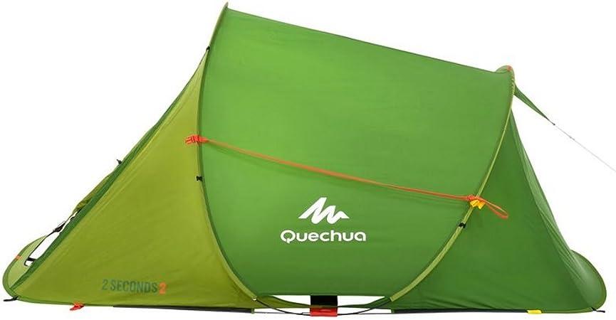 Decathlon Quechua – Tienda para familia, unisex, - 2 SECONDS EASY 2 PEOPLE LIGHT GREEN: Amazon.es: Deportes y aire libre