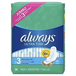 Always Ultra Thin Feminine Pads for Wome...