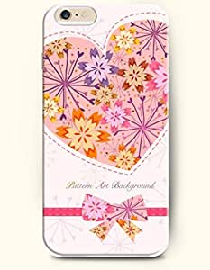 iPhone 6 Plus Case 5.5 Inches Love and Colorful Flowers - Hard Back Plastic Case OOFIT Authentic