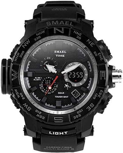 HCFKJ最新 紳士用 超薄型 スポーツ ウォッチ ランニングアウトドア スポーツ ガイドスケールダブルディスプレイ ダイヤル 多機能 電子時計