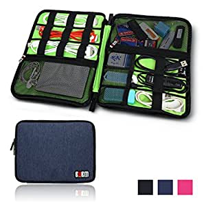 BUBM Universal Cable Organizer Electronics Accessories Case Various USB, Phone, Charge, Cable organizer Travel Organizer--king Size