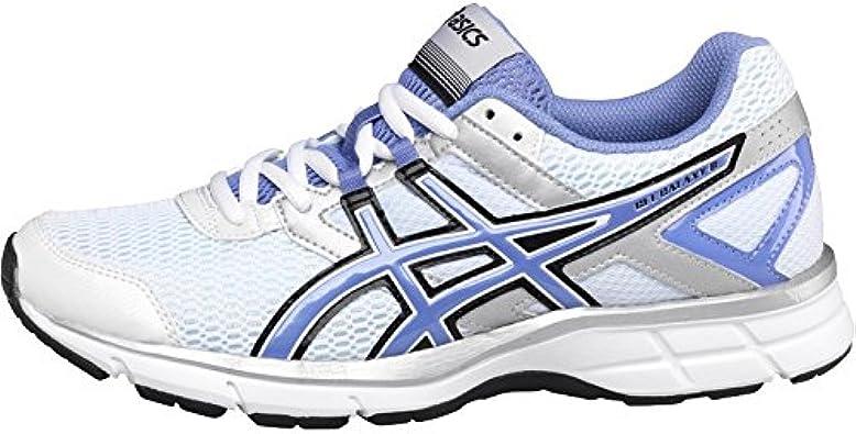 Para mujer Asics Gel Galaxy 8 neutro Zapatillas de running blanco/lavanda/plata niña mujer (8 UK 8 EUR 42): Amazon.es: Zapatos y complementos
