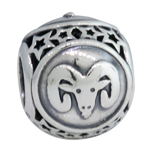 PANDORA 791936 Aries Star Sign Charm