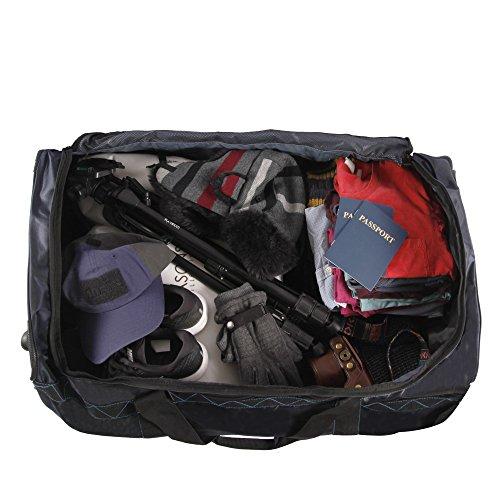 "51VBzaYEm5L - Perry Ellis Men's 24"" Lightweight Rolling Bag-A324 Duffel Bag, Navy/Blue, One Size"