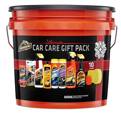 Armor All Complete Ultimate Car Care Gift Pack, Holiday Gift Pack, 10 Items (Care Kits Car Cleaning)