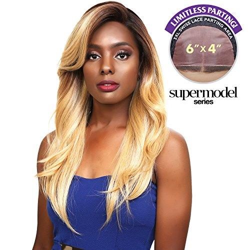 - Sensationnel Human Hair Blend Lace Front Wig Super Model Series 3XL Swiss Silk Based Melba (T4/27/613)