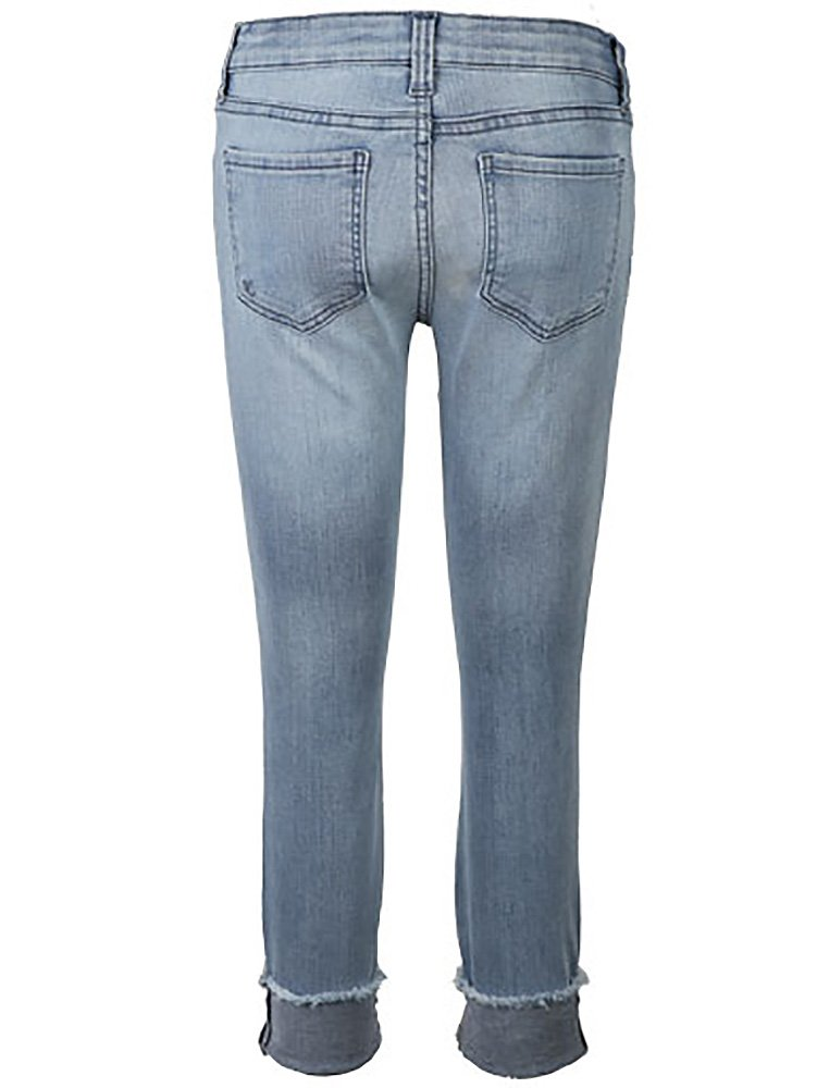 KUT from the Kloth Women's Connie Crop Skinny Jeans w/Fray Hem in Esthetic/New Vintage Base Wash Esthetic/New Vintage Base Wash 10 27.5 by KUT from the Kloth (Image #2)