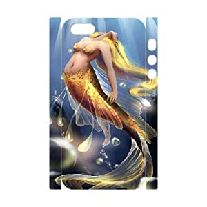 LSQDIY(R) Mermaid iPhone 5,5G,5S Personalized 3D Case, Customised iPhone 5,5G,5S 3D Case Mermaid