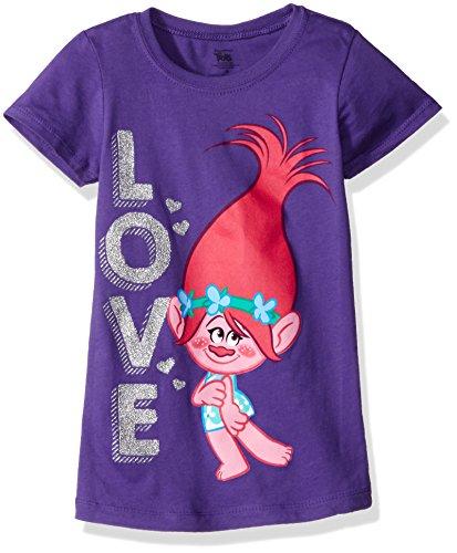 Trolls Girls' Little Girls' Love The Princess T-Shirt, Purple Rush, 4 by Trolls (Image #1)