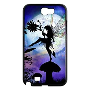 Diy Beautiful Fairy Phone Case for samsung galaxy note 2 Black Shell Phone JFLIFE(TM) [Pattern-1]