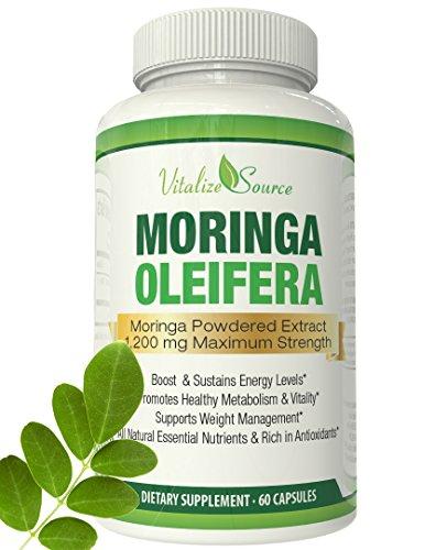 Vitaliser Source Moringa oleifera 1200mg poudre de feuilles Capsules - Acheter le meilleur naturel suppléments nutritifs Risk Free