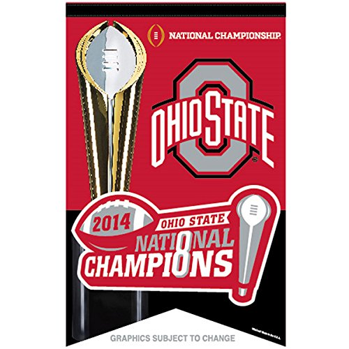 Football Champions Bcs - 2014 NCAA BCS College Football Champions Ohio State Buckeyes Premium Banner 17