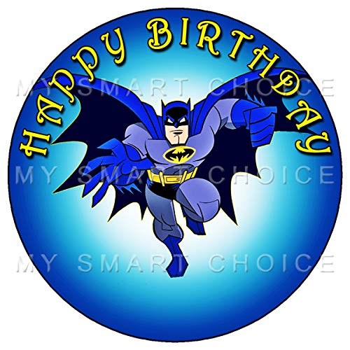 7.5 Inch Edible Cake Toppers - BATMAN FAN PARTY Themed Birthday Party Collection of Edible Cake Decorations