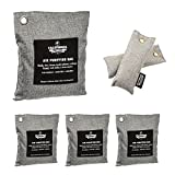 6 Pack - Activated Charcoal Deodorizer Odor Neutralizer Bags Complete Pack (1x 500g, 3x 200g & 2x 50g), Car Freshener Bags, 100% Natural Non-Toxic Carbon Activated Bamboo Charcoal Air Purifying Bag
