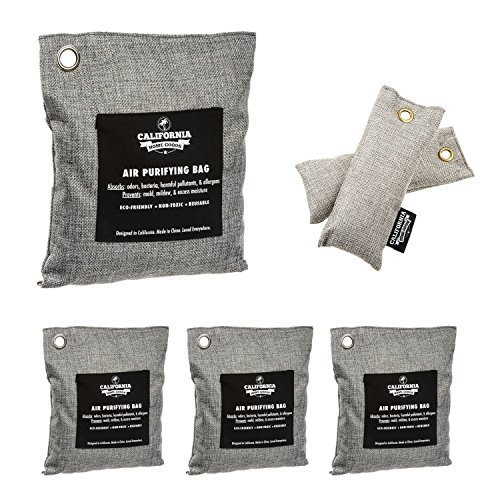6 Pack - Activated Charcoal Deodorizer Odor Neutralizer Bags Complete Pack (1x 500g, 3x 200g & 2x 50g), Car Freshener Bags, 100% Natural Non-Toxic Carbon Activated Bamboo Charcoal Air Purifying Bag (Best Way To Get Rid Of Smoke Smell)
