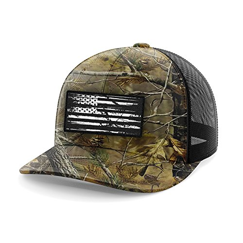(Realtree American Flag Flexfit Hat (S/M))