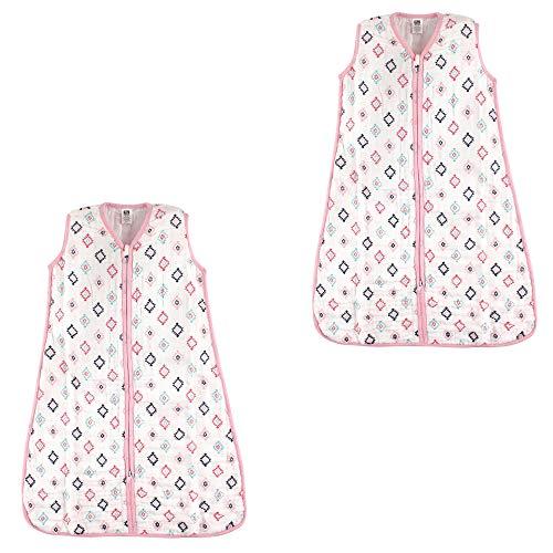 Hudson Baby Unisex Baby Safe Sleep Wearable Muslin Sleeping Bag, Girl Aztec 2-Pk, 18-24 Months