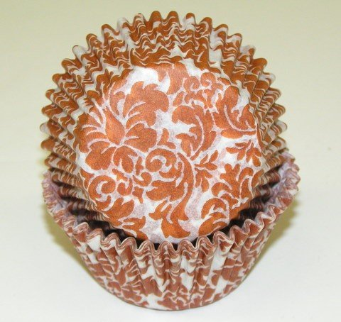 CLEARANCE FREE STANDARD SHIPPING - 24 Damask Baking Cups Cup