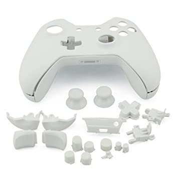 Plastic White Protective Case Cover Shell Kit for Microsoft Xbox One  Controller