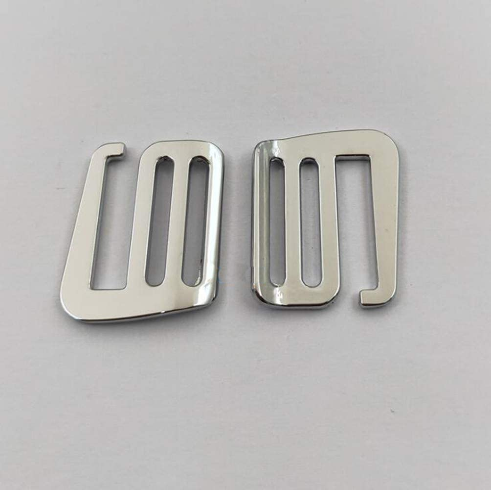 plata 25 mm Hebilla de metal para mochila de aleaci/ón de aluminio Yeaser 6 unidades