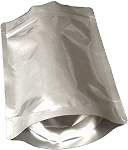 Pleasant Grove Farm 7 Mil Zip Lock Mylar Bags Stand Up Gusseted Pouch in Multiple Sizes (50, 1 PINT 6 x 8)