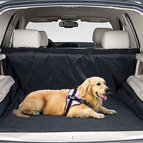 KYC Black Waterproof Seat Cover for Universal Vehicle Durable, Easy Clean Pet Cargo covers for Cars Trucks and SUVs