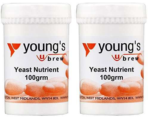 2 x Youngs Home Brewing Wine Make Yeast Nutrient For Rapid Fermentation Of Wine 100g