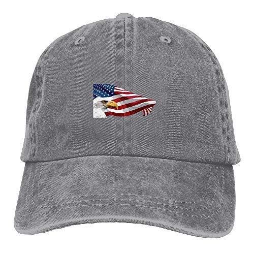 53c77214bf93f Bald Eagle Clipart Cool USA Flag Summer Personalized Casual Plain Hats  Cowboys Adult Baseball Cap RoyalBlue  Sports   Outdoors