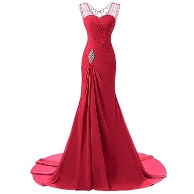 Zalin Womens Elegant Noble Hollow Back Formal Long Evening Dresses Sleeveless Chiffon Bridesmaid Dresses More Color at Amazon Womens Clothing store: