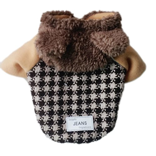Christmas Uniquorn 2016 New Fall And Winter Dog Clothing Poodle Teddy Plaid Cotton Coat Warm And Comfortable Dog Clothes