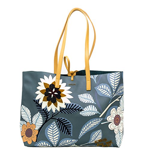 Desigual SAC FEMME BOLS BOTANICAL SEATTLE 18WAXPA4 Blue Petroleum