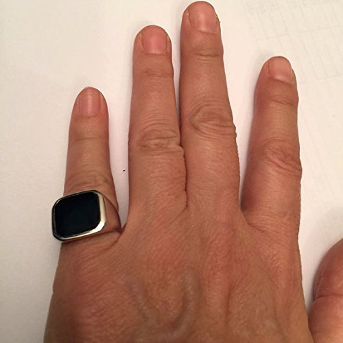 6039517727437 Amazon.com: Onyx Ring, Signet Ring, Pinky ring, size 5 us: Handmade