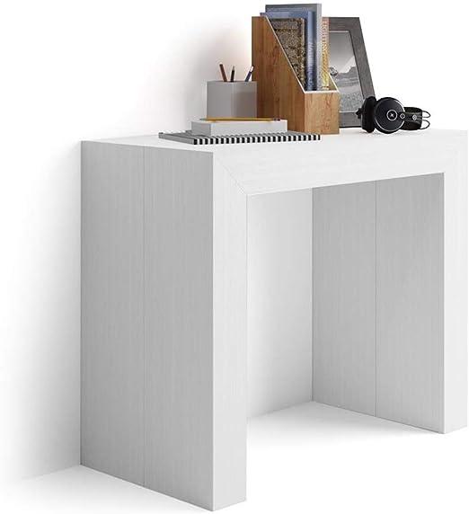 Mobilifiver Mesa Consola Extensible, Modelo Angelica, Color Blanco ...