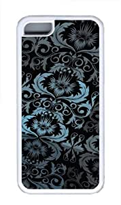 Floral Pattern TPU Case Cover for iPhone 5C White